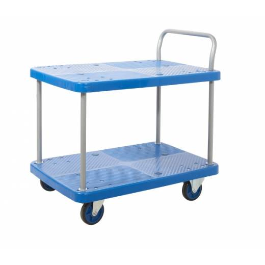 ProPlaz Blue Two Shelf Trolley