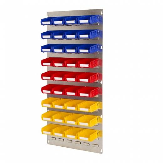 Wall Mounted Louvre Panel With 36 Parts Bins