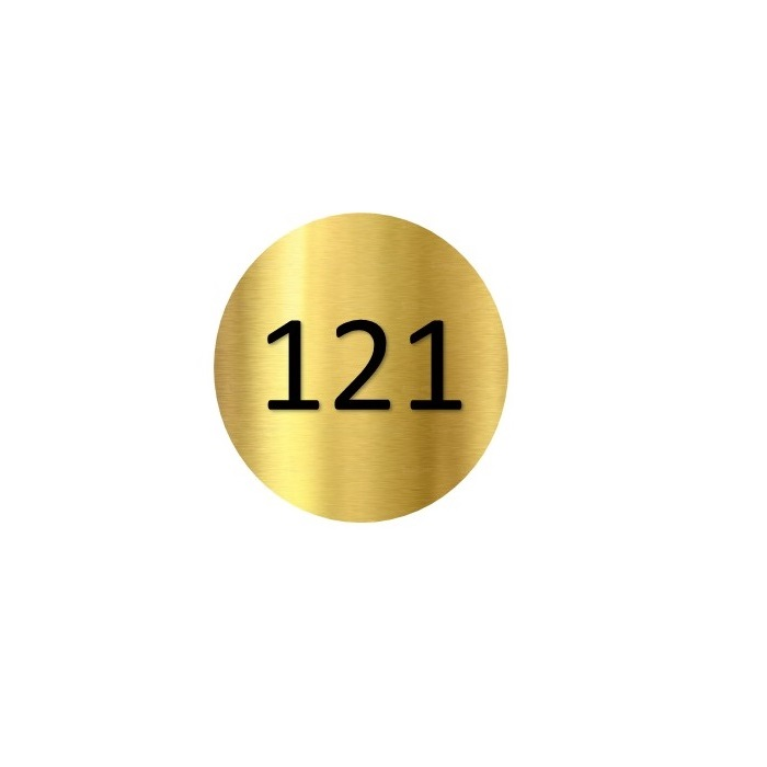 Brass Locker number discs, exclusive to lockertek