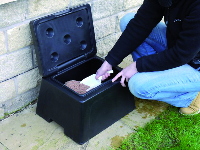 Prepare for the cold winter weather with grit bins and snow ploughs from lockertek
