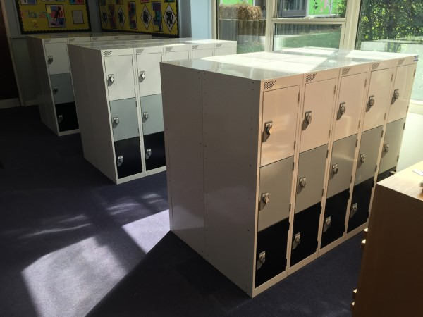 Steel Primary School Lockers at Latton Green Primary