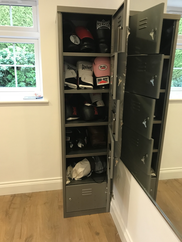 Urban vintage locker in a gym from Lockertek